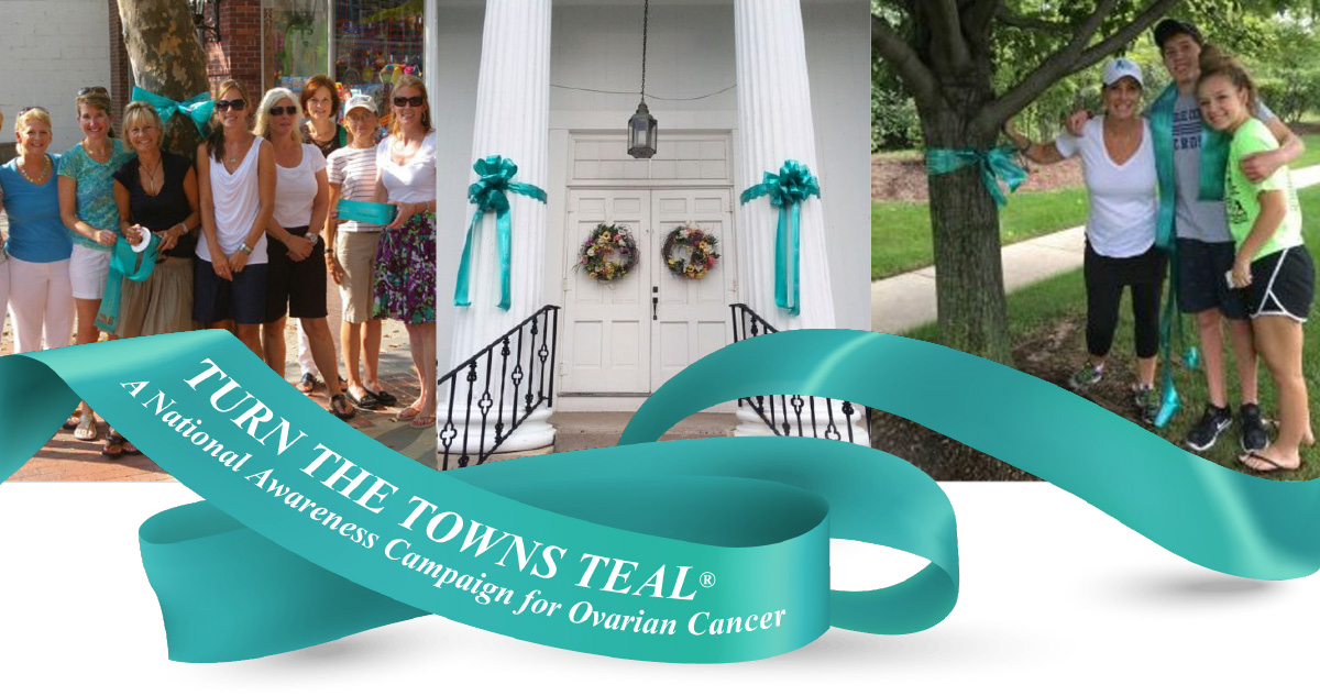 Turn the Towns Teal Ribbon and Photos