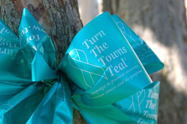 Turn The Towns Teal Ribbon Photo
