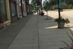Blissfield Michigan Lamp Posts Tealed