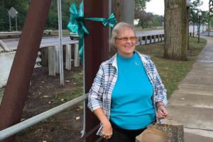 Blissfield Michigan Woman With Ribbon