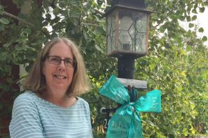 Boulder CO Woman Lamp Post Ribbon
