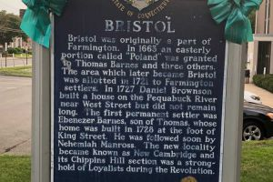 Bristol CT Tealed Town Sign
