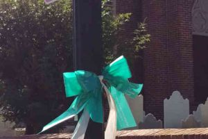 Delaware Ovarian Cancer Foundation Lewes Delaware Ribbon On Post