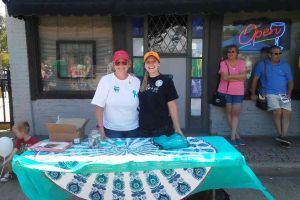 Festus Missouri Women Teal Table