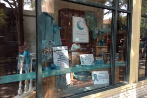 Greenwood South Carolina General Store Teal Window Display