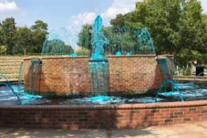 Greer South Carolina Teal Fountain