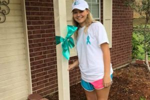 Longview TX Girl Teal Ribbon