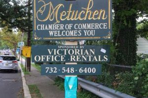 Metuchen NJ Tealed Sign