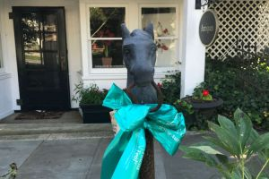 Oldwick NJ Horse Post Teal Ribbon
