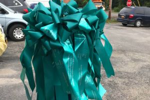 Otisville NY Woman Carrying Ribbons