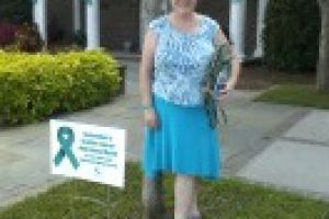 Summerville South Carolina Woman Teal Sign