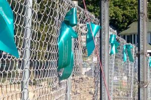 Washingtonville New York Teal Ribbons On Fence