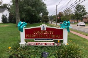 Chester Nj Tealed Church Sign